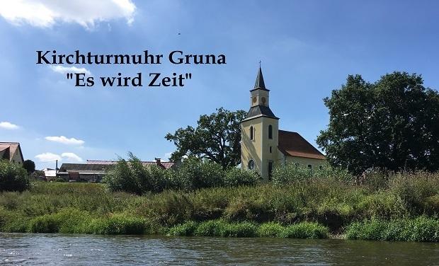 """Kirchturmuhr Gruna – """"Es wird Zeit"""""""